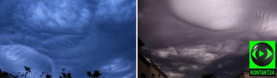 Dziwne chmury zawisły nad Warszawą