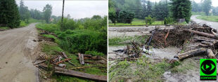 Uszkodzone dachy i połamane drzewa po nawałnicach