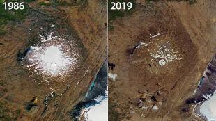 Islandczycy pożegnali martwy lodowiec