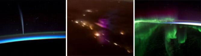 Zorze, dziesiątki piorunów i kometa. Ziemia z wyjątkowej perspektywy