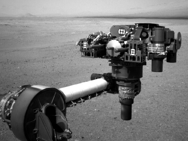 Głowica z narzędziami na końcu robotycznego ramienia Curiosity (NASA/JPL-Caltech )